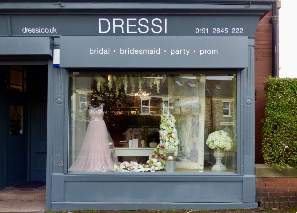 Gosforth Small Business Dressi Shop Front Kelly's Corner Salters Road