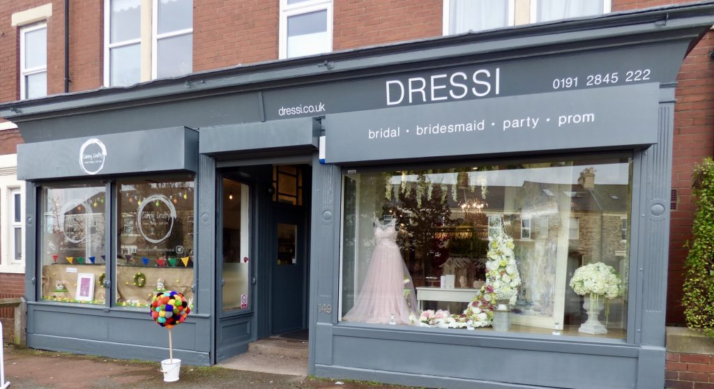 Shop fronts, Gosforth Small Businesses Canny Crafty, Dressi on Salters Road